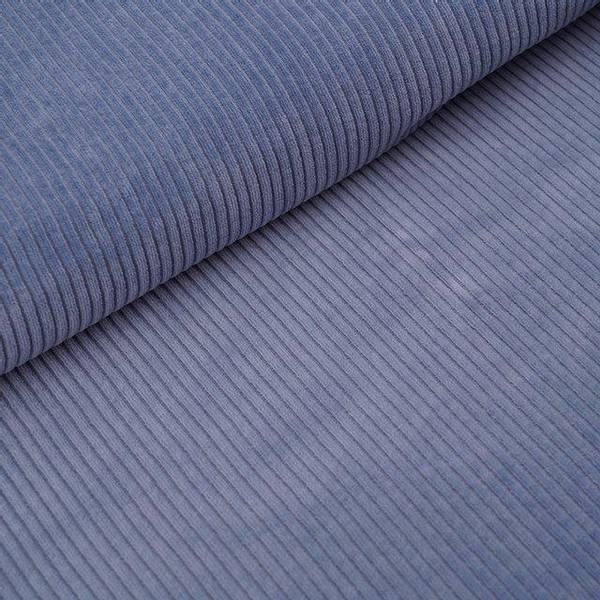 Bilde av Økologisk myk cordfløyel, blågrå