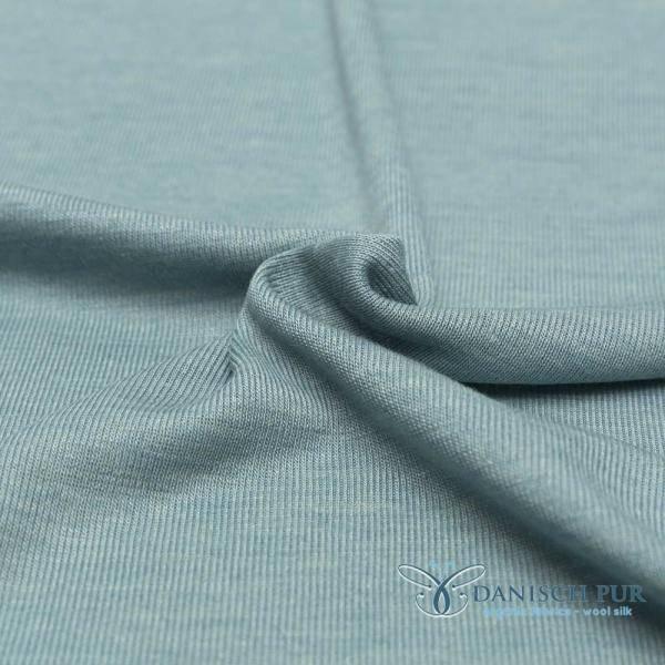 Bilde av Økologisk ull/silke, arctic blue