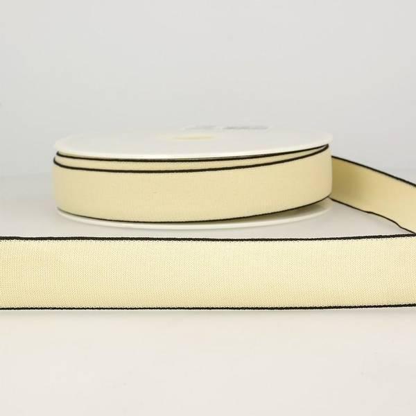 Bilde av Elastisk bånd 2,5cm bredt, krem