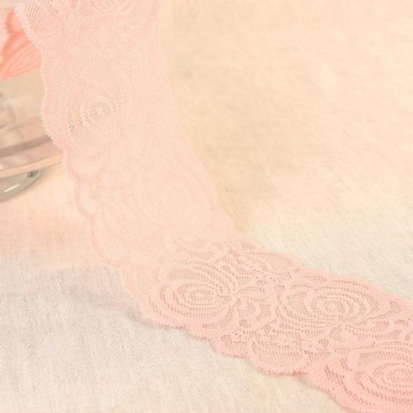 Bilde av Elastisk blonde 10.5cm, støvet rosa