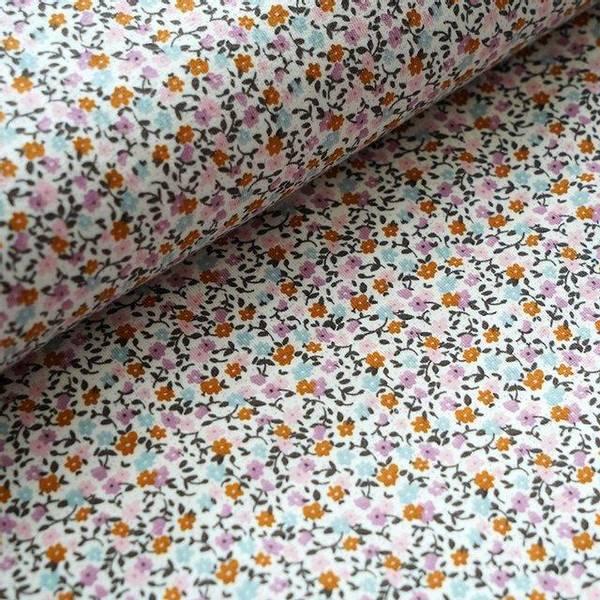 Bilde av Økologisk jersey, missi flowers oker/rosa