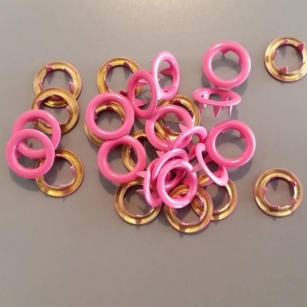 Bilde av Metalltrykknapper rosa