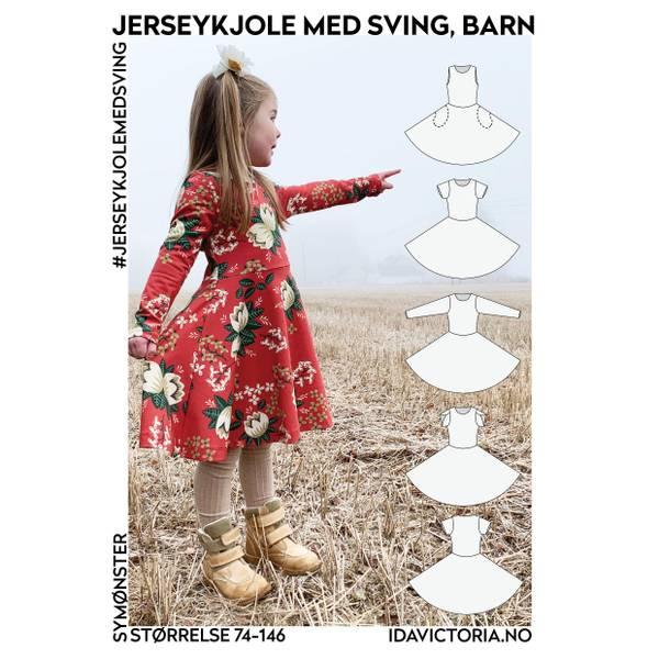 Bilde av Ida Victoria, Jerseykjole med sving til barn
