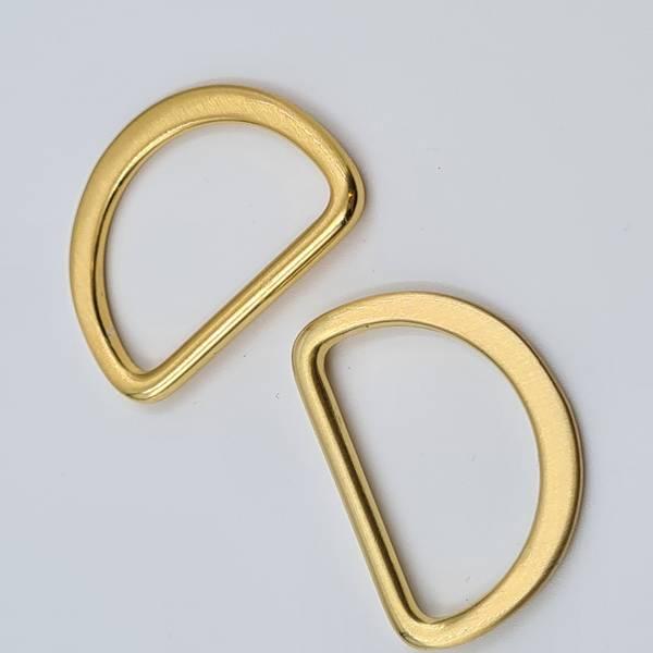 Bilde av 2stk D-ringer 25mm gullfarget